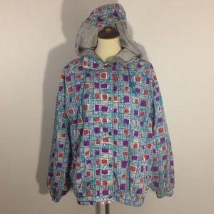 Nike Vintage Windbreaker Rain Jacket with Hood